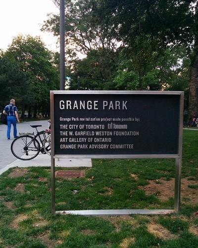 Entering the Grange Park
