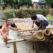 Bamboo boat repair