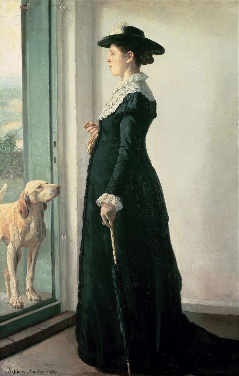 Portrait of my wife. The painter Anna Ancher by Michael Ancher, 1883