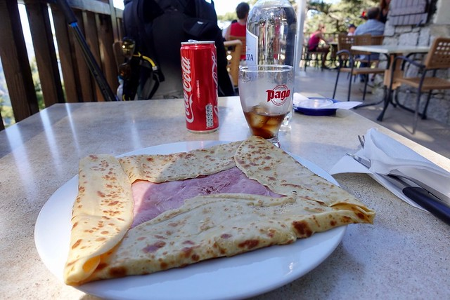Jambon and fromage crepe