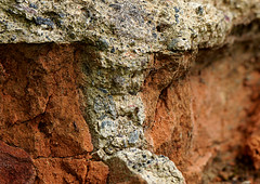 Broken bricks and mouldering mortar