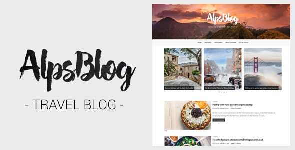 AlpsBlog WordPress Theme free download