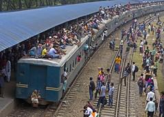 Overcrowded trains ahead of Eid al-Fitr in Bangladesh