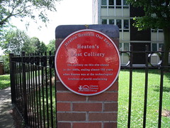 Photo of Colliery, Heaton red plaque