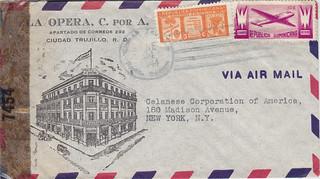 Dominican Republic La Opera to Celanese 1944