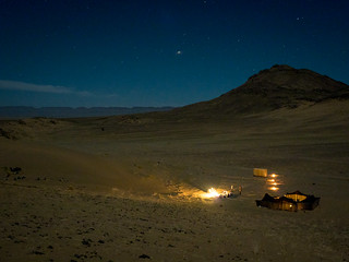 Extreme Environments: Night time at the desert camp, Zagora, Morocco