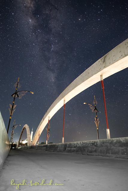 Milky Way over Dompak Island Bridge