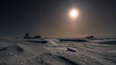 The full Moon over the Ice Desert