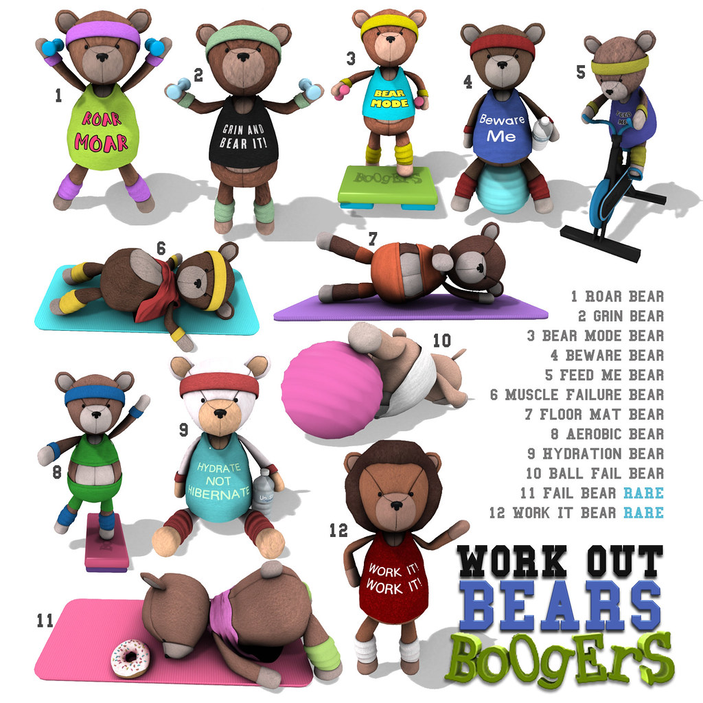 BOOGERS Workout Bears