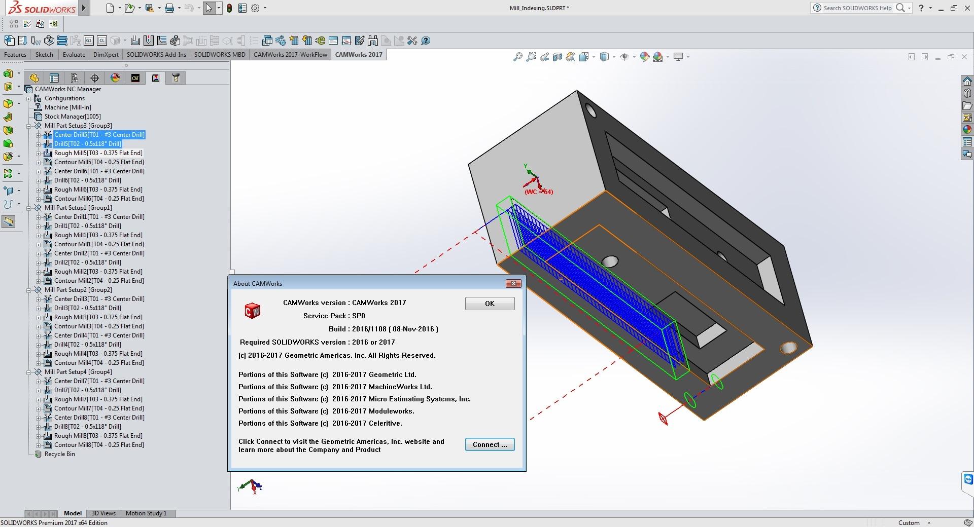 CNC program with CAMWorks 2017 SP0 full license