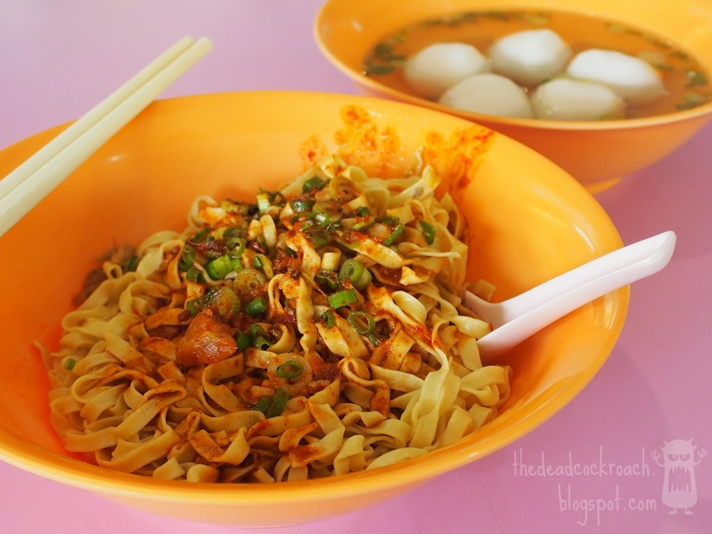fishball mee, fishball noodles, food, food review, meiling food centre, meiling market & food centre, review, singapore, xin lu, xin lu fishball mee, 新路, 潮州鱼圆面, 鱼圆面