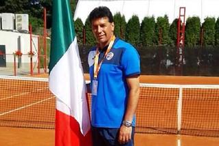 Noicattaro. Cesare Porcelli agli Europei di Tennis front