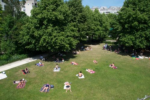 sunbathing in the Jardin de Reuilly Paul Pernin