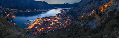kotor dusk sunset montenegro