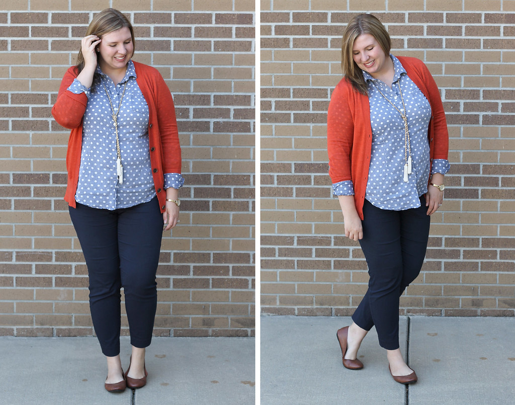 mom style remix chambray orange