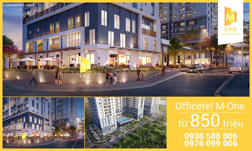 Căn hộ officetel M-One từ 850 triệu đồng/căn (chưa gồm VAT, phí bảo trì).
