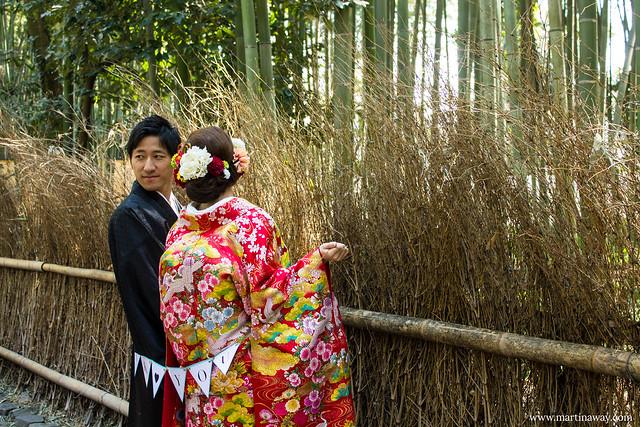 Neo sposi alla Foresta di Bambù