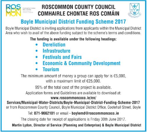 Boyle Municipal District Funding Scheme 2017__