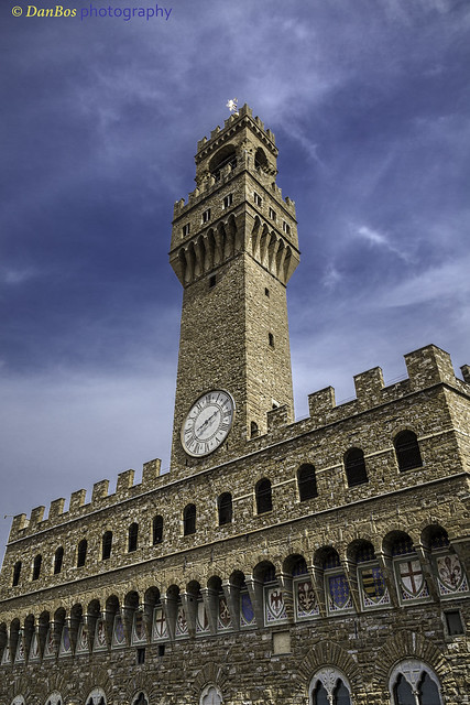 Palazzo Vecchio against sky - Florence
