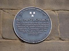 Photo of David Stephenson and All Saints Church, Newcastle upon Tyne black plaque