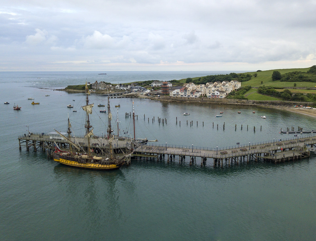 Shtandart at Swanage pier - Click to show full size