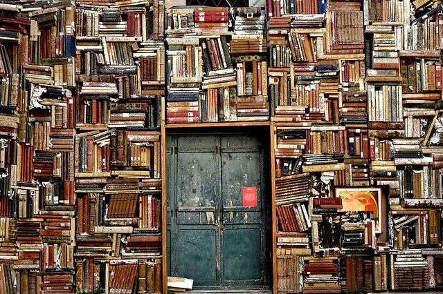 Old Book Wall