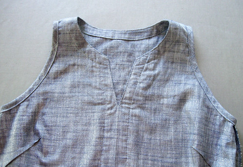 chambray top inside view