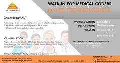 Walk-in For Medical Coders @ Vee Technologies