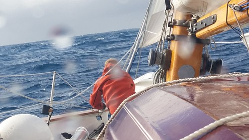 lashing the staysail