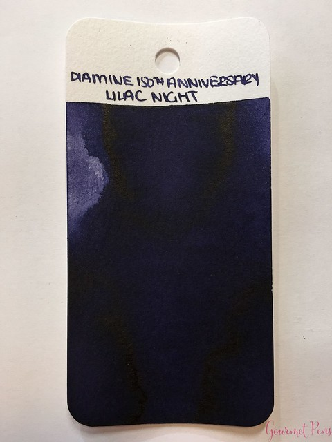 Ink Shot Review Diamine Anniversary Lilac Night @AppelboomLaren 11