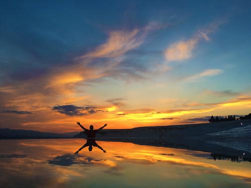 hotsprings cottoncastle pamukkale water colors reflection mirror