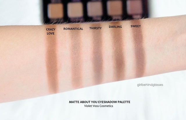 Violet Voss Matte About You Eyeshadow Palette Row 4 swatches