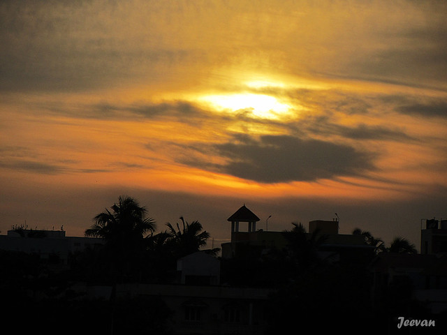Lovely sunset @ Palavakkam Beach