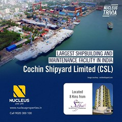 Largest shipbuilding and maintenance facility in India is the Cochin Shipyard Limited (CSL).It is also the first Greenfield and presently the most modern shipbuilding and shiprepair yard in India. It was incorporated in April 1972. #trivia  #Kerala #Kochi