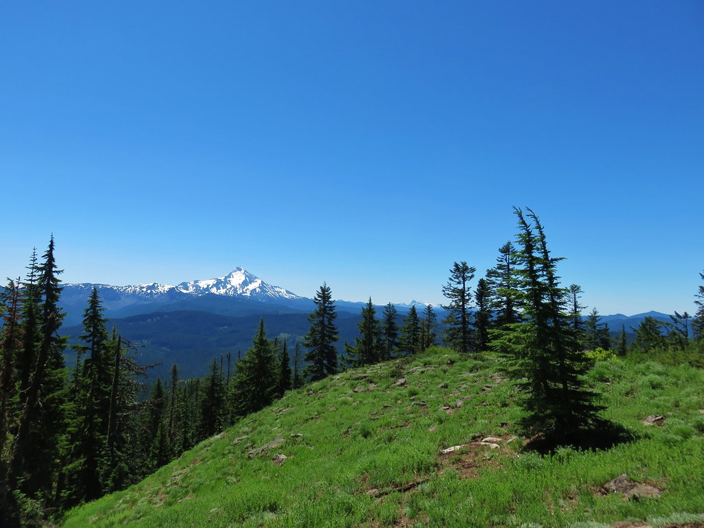 Mt. Jefferson, Three Fingered Jack, The Three Sisters and Mt. Washington from Hawk Mountain
