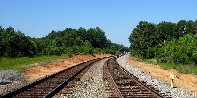 railroad tracks, in daylight