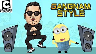 Minions Banana cartoon Song ~ Funny gangnam style Edition 2017