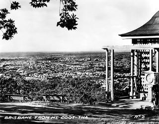 14 Jul 1943 - Rare Real Photo Card - Circa 1930s - No. 2 - Brisbane from Mt. Coot-tha, Queensland, Australia