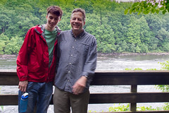 Jack and Dave on Father's Day along the Delaware RIver