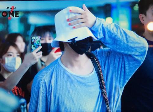 G-Dragon arrival Seoul from Bangkok 2017-07-09