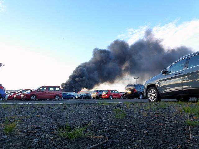 Augean PLC fire. Clark st Paisley july 8th 2017 (2)