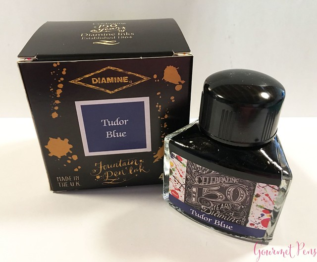 Ink Shot Review Diamine Anniversary Tudor Blue @AppelboomLaren 1