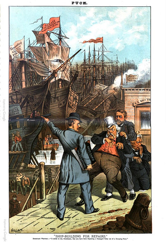 ship-building for repairs (1885)