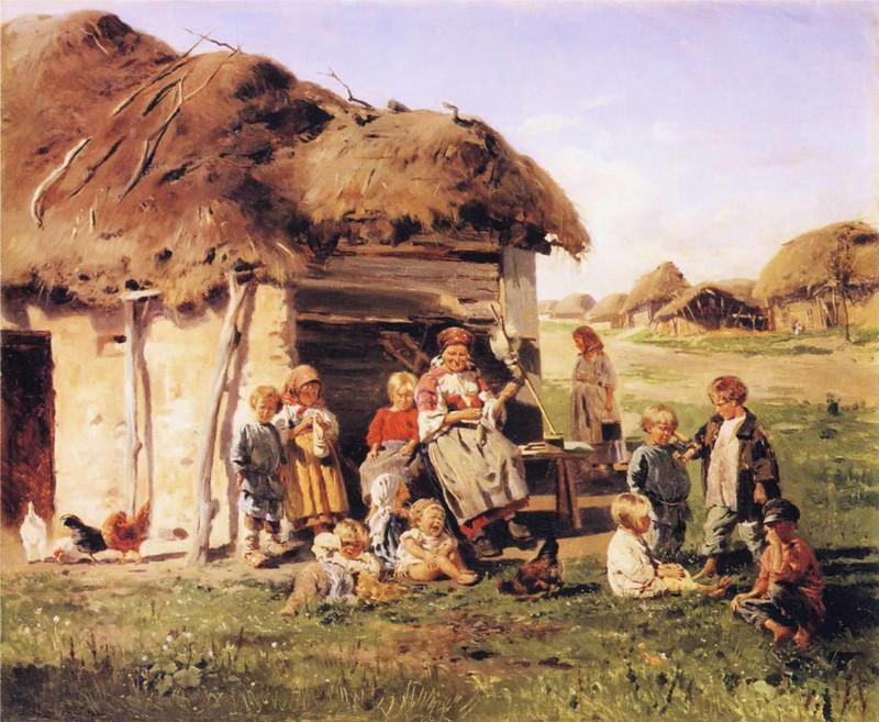 Peasant Children by .Vladimir Yegorovich Makovsky, 1880