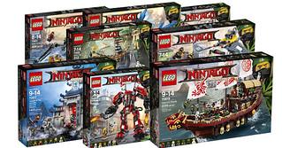 「新增LEGO 旋風忍者電影系列The Ninjago Movie 盒組官圖!!」首波釋出十組真是太豪華啦~