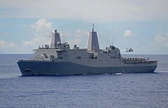 USS Green Bay (LPD 20) operates in the Philippine Sea earlier this month. (U.S. Navy/MC2 Sarah Villegas)