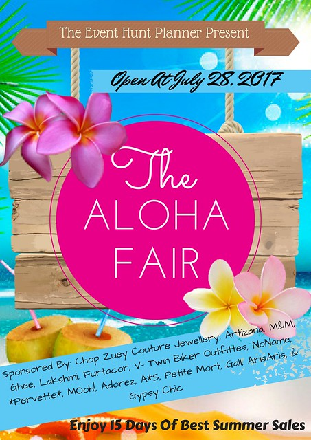The Aloha Fair 2017- Sponsor Flyer Official Board