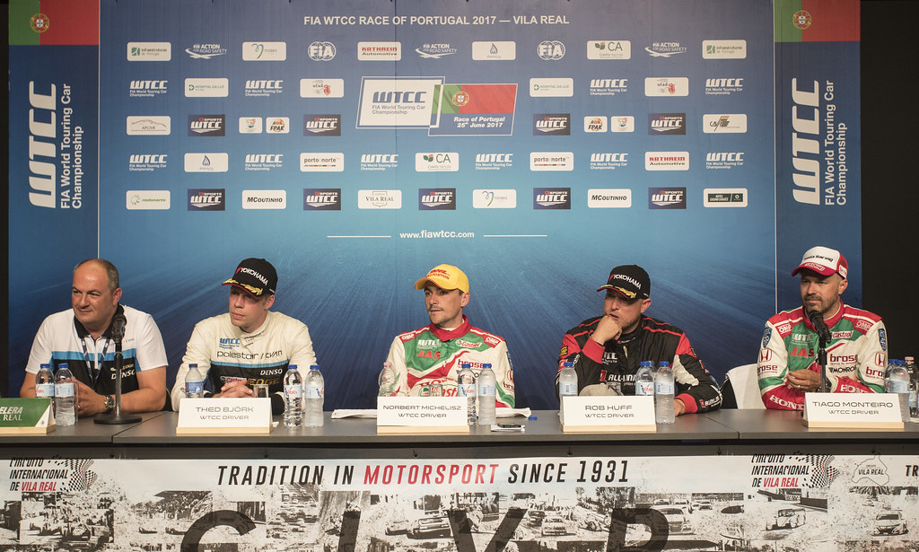 conference de presse press conference during the 2017 FIA WTCC World Touring Car Championship race of Portugal, Vila Real from june 23 to 25 - Photo Gregory Lenormand / DPPI