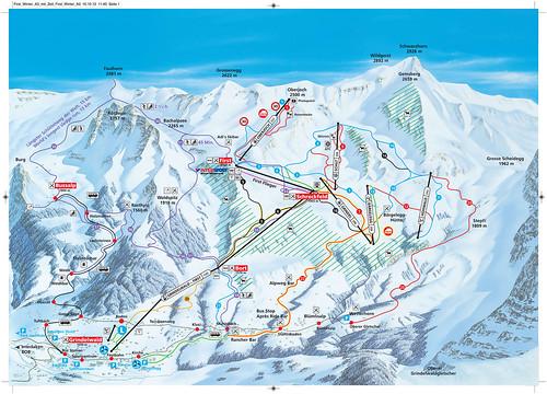 Grindelwald - First - mapa sjezdovek