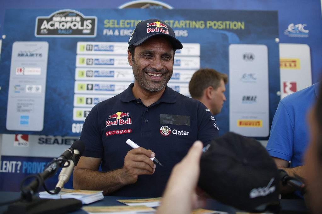 AL ATTIYAH Nasser (qat) ambiance portrait during the European Rally Championship 2017 - Acropolis Rally Of Grece - From June 2 to 4 - Photo Thomas Fenêtre / DPPI